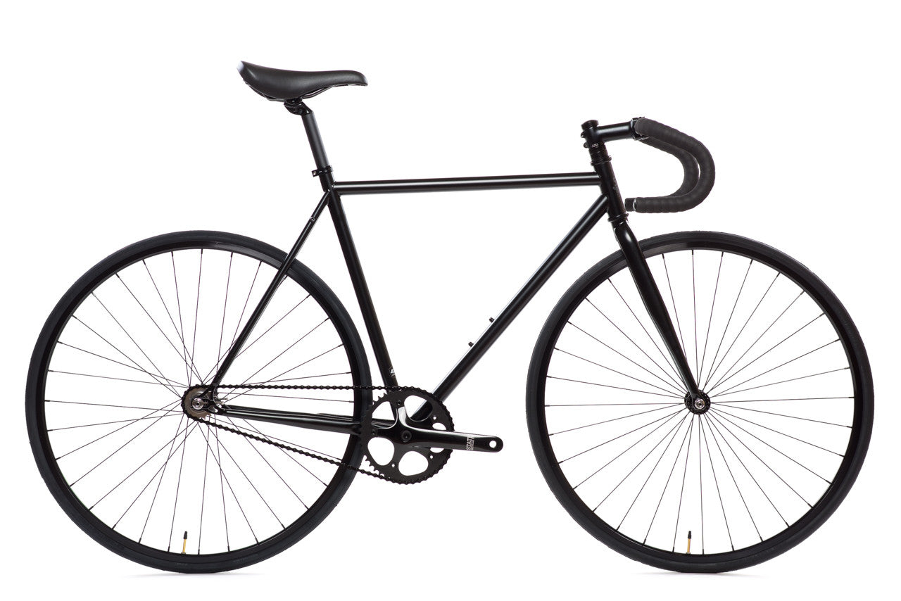 matte black 6 bicycle fixie fixed gear bikes state. Black Bedroom Furniture Sets. Home Design Ideas