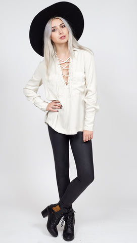 Van De Vort Lace Up Top