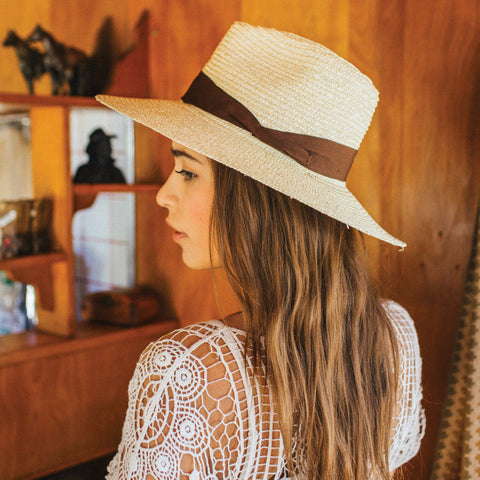 Brixton Willow Hat - Cream/Brown