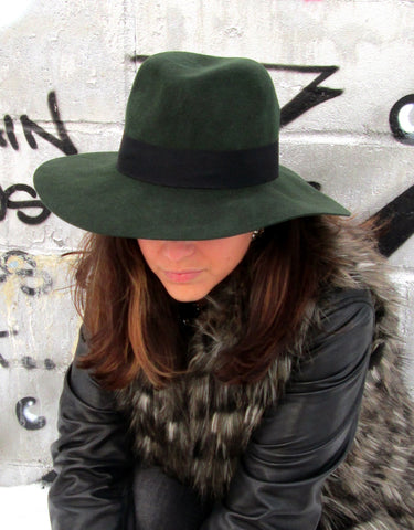 66 The Label Green Fedora