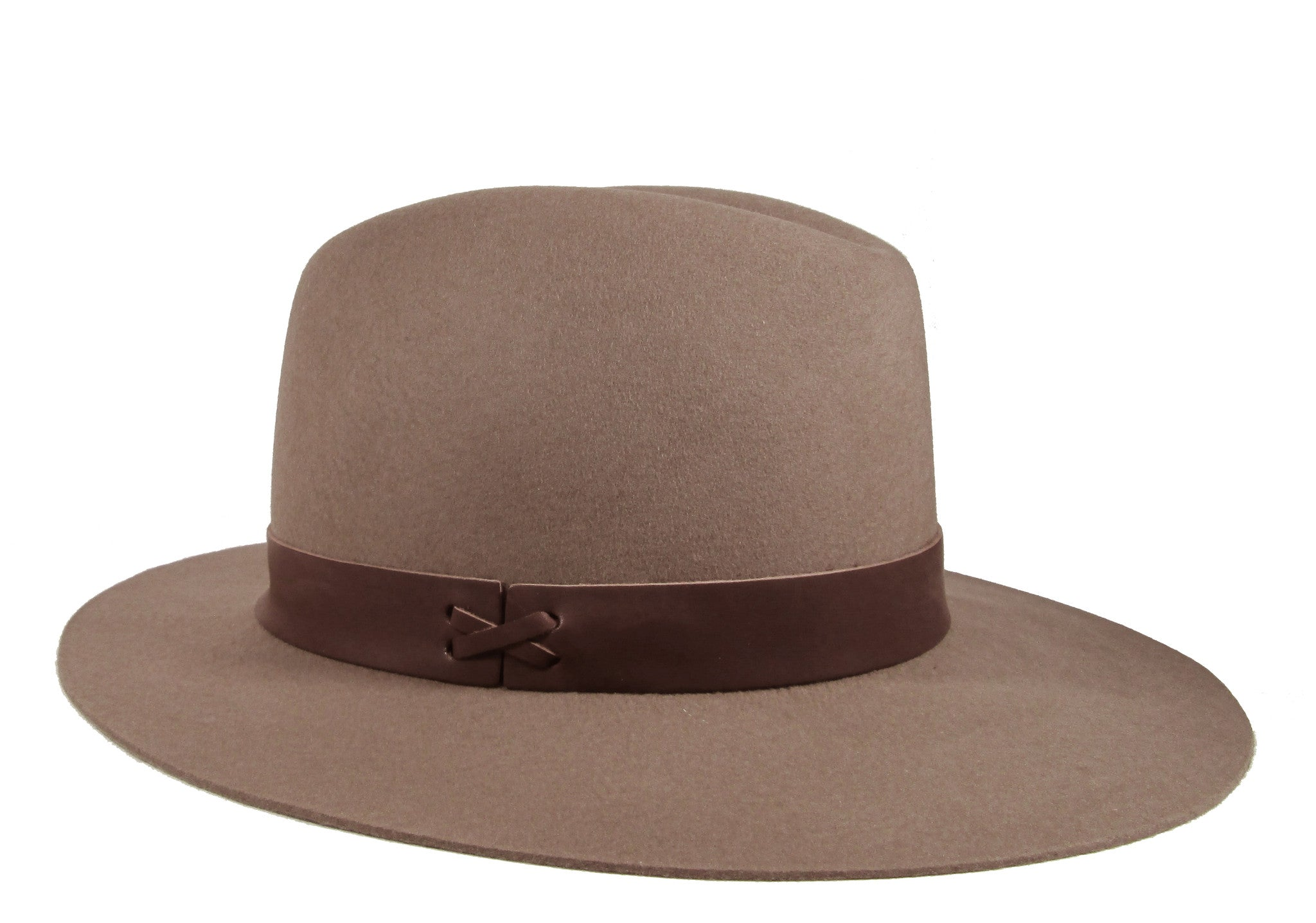 Hat Attack Brown Leather Trim