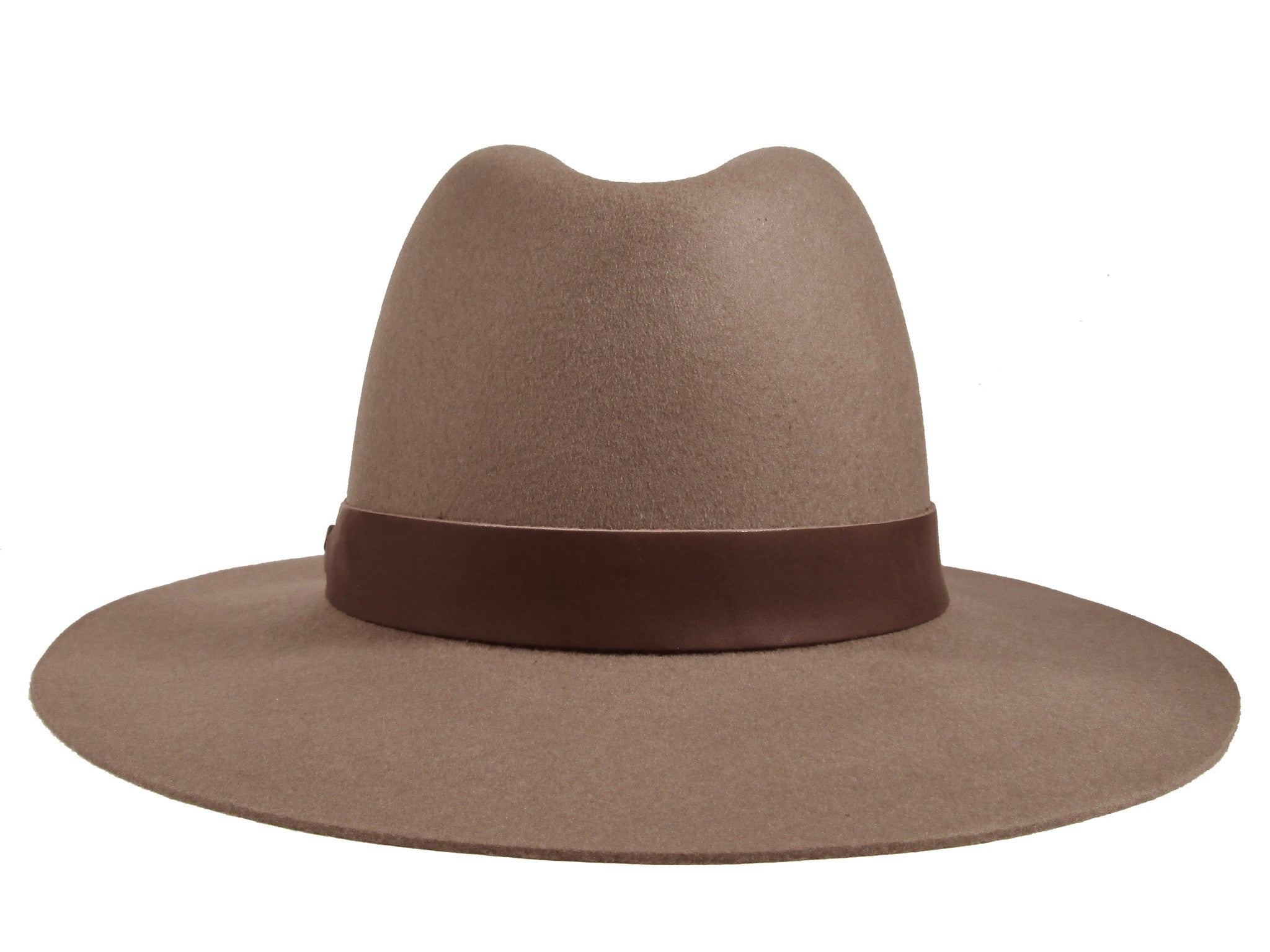 Hat Attack Classic Brown Wide Brim Fedora