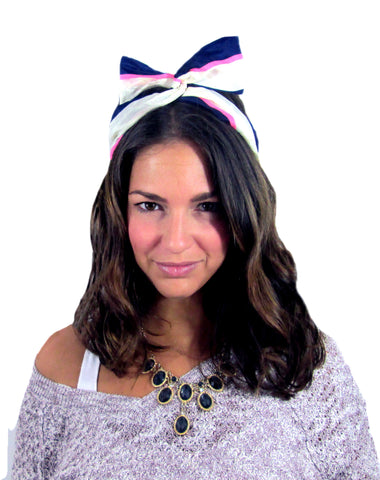 March Hare Headband / Color Block
