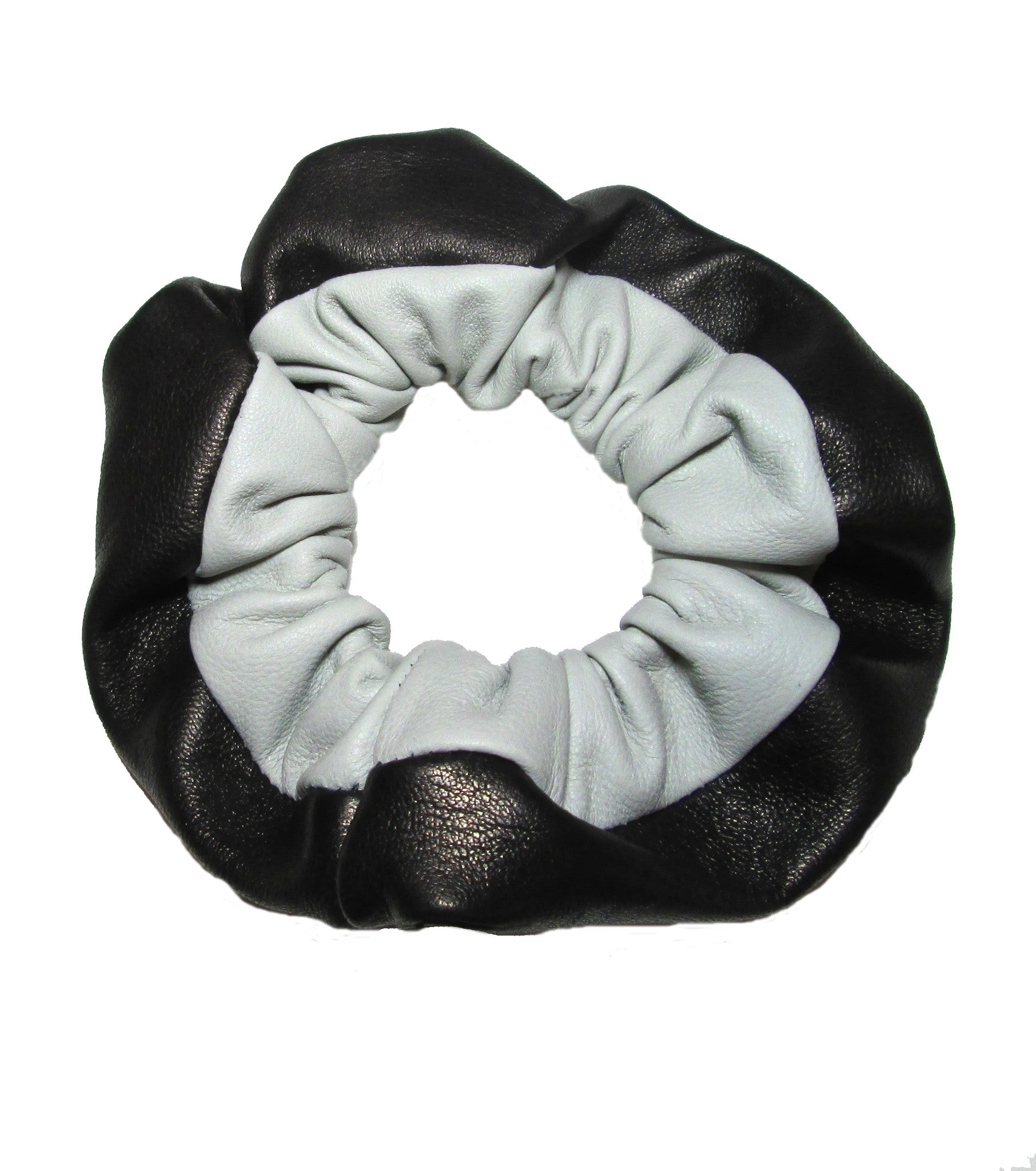 Two-Tone Leather Scrunchie