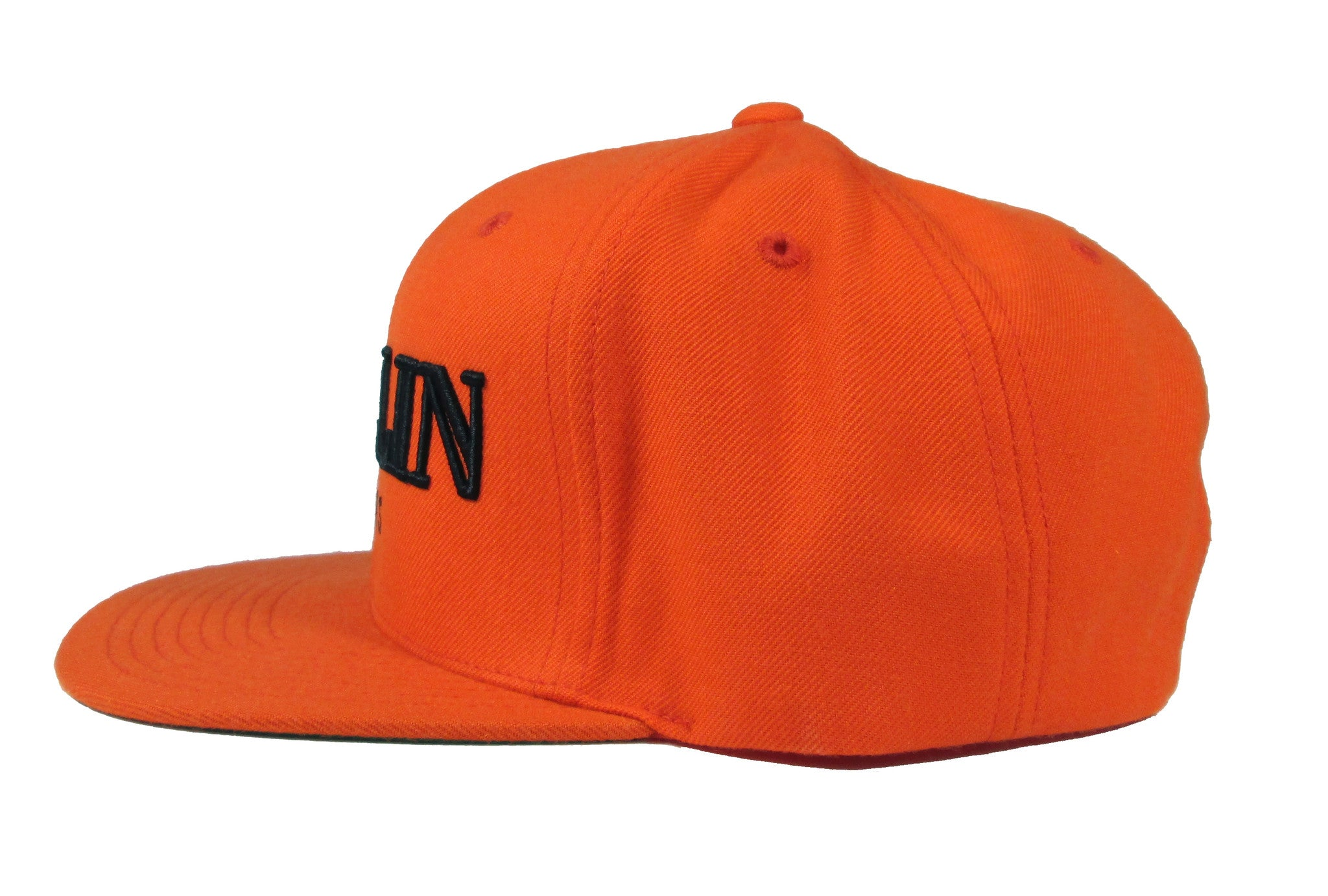 Alex & Chloe Orange Snap Back Side View