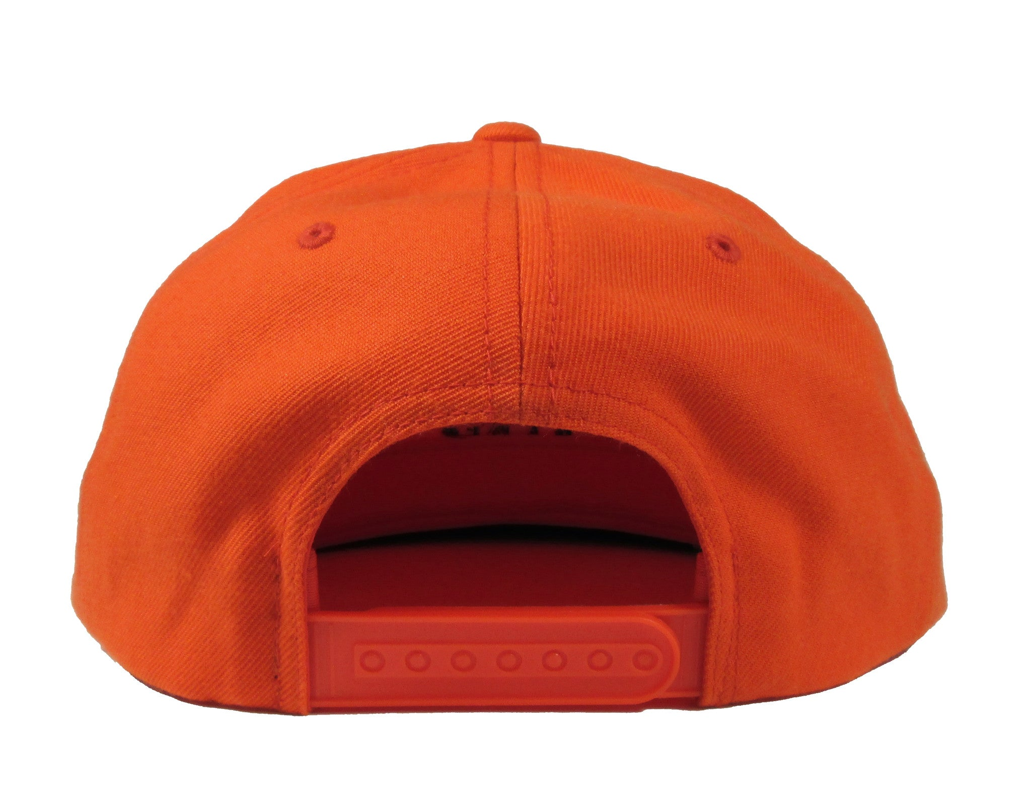 Alex & Chloe Orange Snap Back Back View