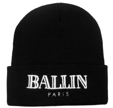 Alex & Chloe Black Ballin Paris Beanie