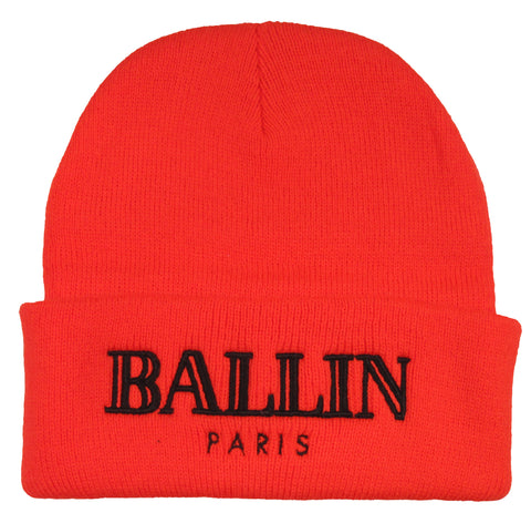 Alex & Chloe Orange Ballin Paris Beanie