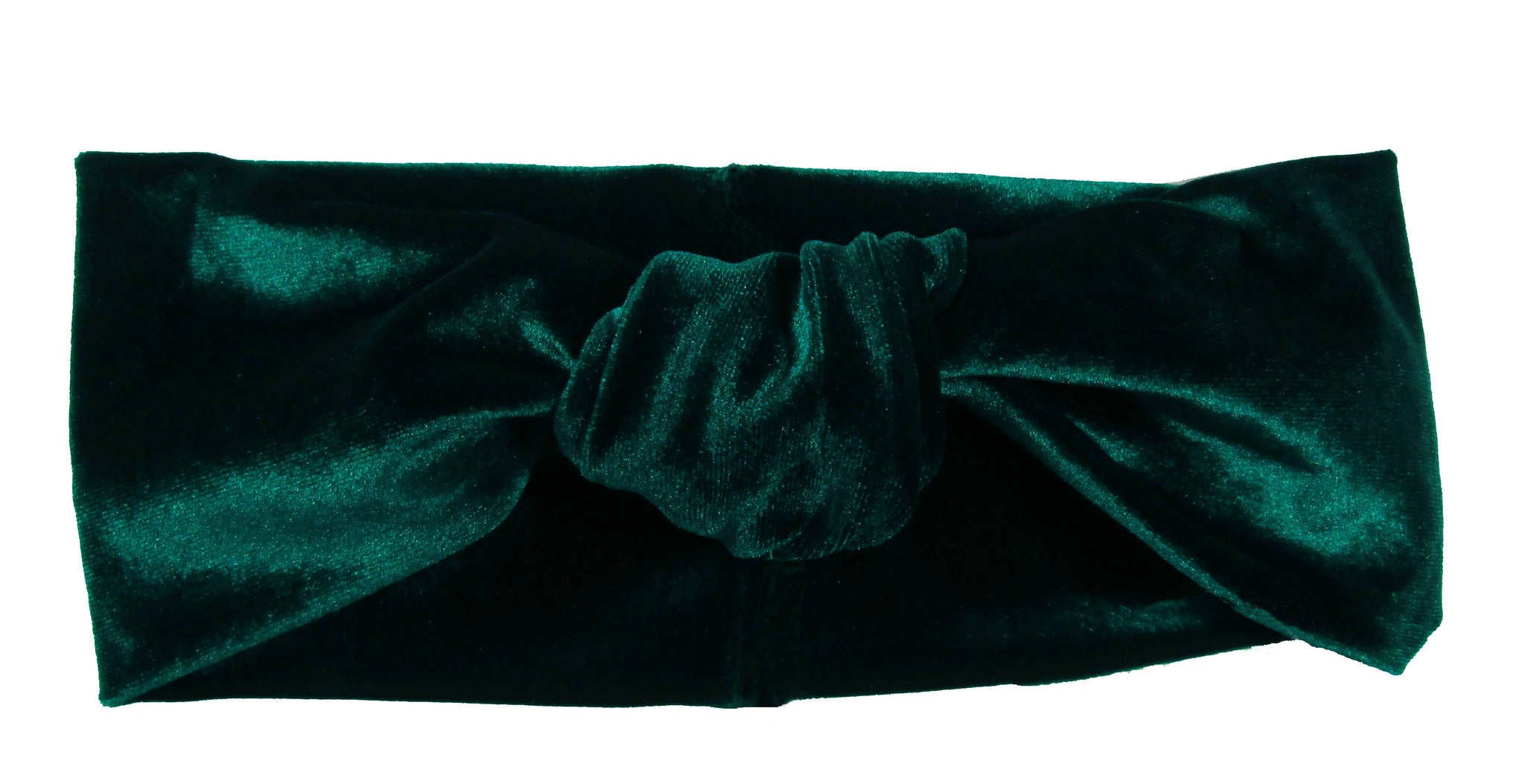 Velvet Green Knotted Headband