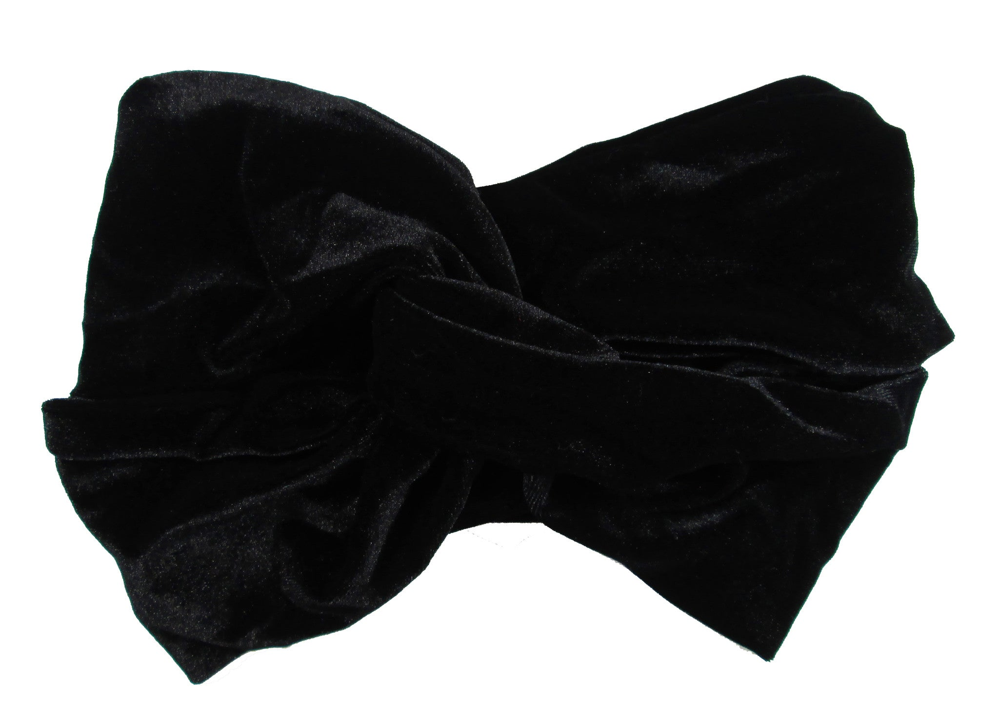 Velvet Turban Style Headband In Black