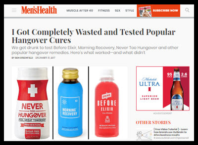 Men's Health Hangover Article