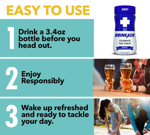 Easy To Use DrinkAde Boost Directions