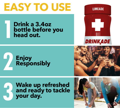Easy To Use DrinkAde Prevention Directions