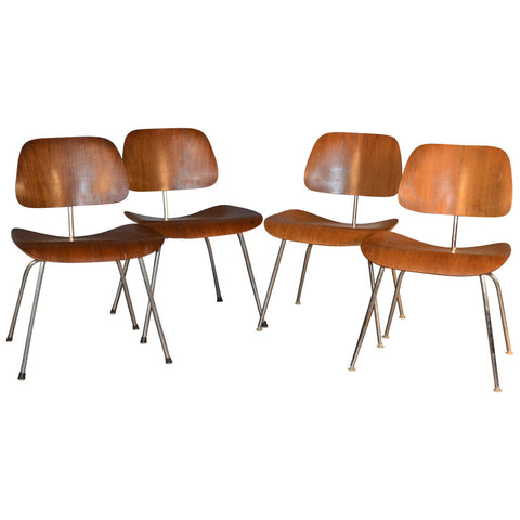 Eames Mixed Set of Four DCM Dining Chairs for Herman Miller