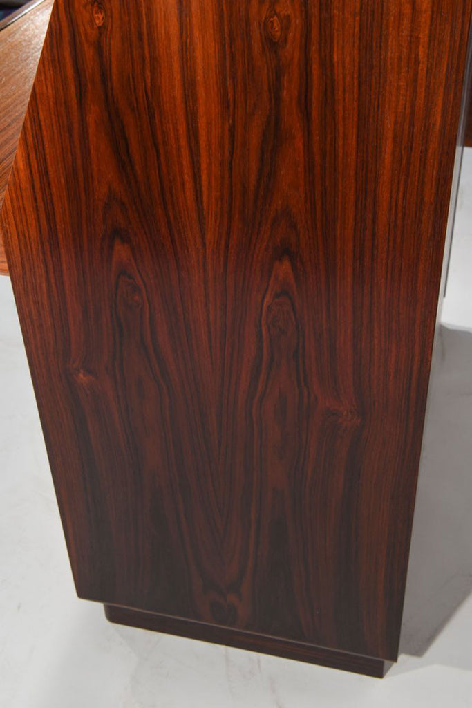 Dyrlund Rosewood Vanity Chest of Drawers with Tambour Front