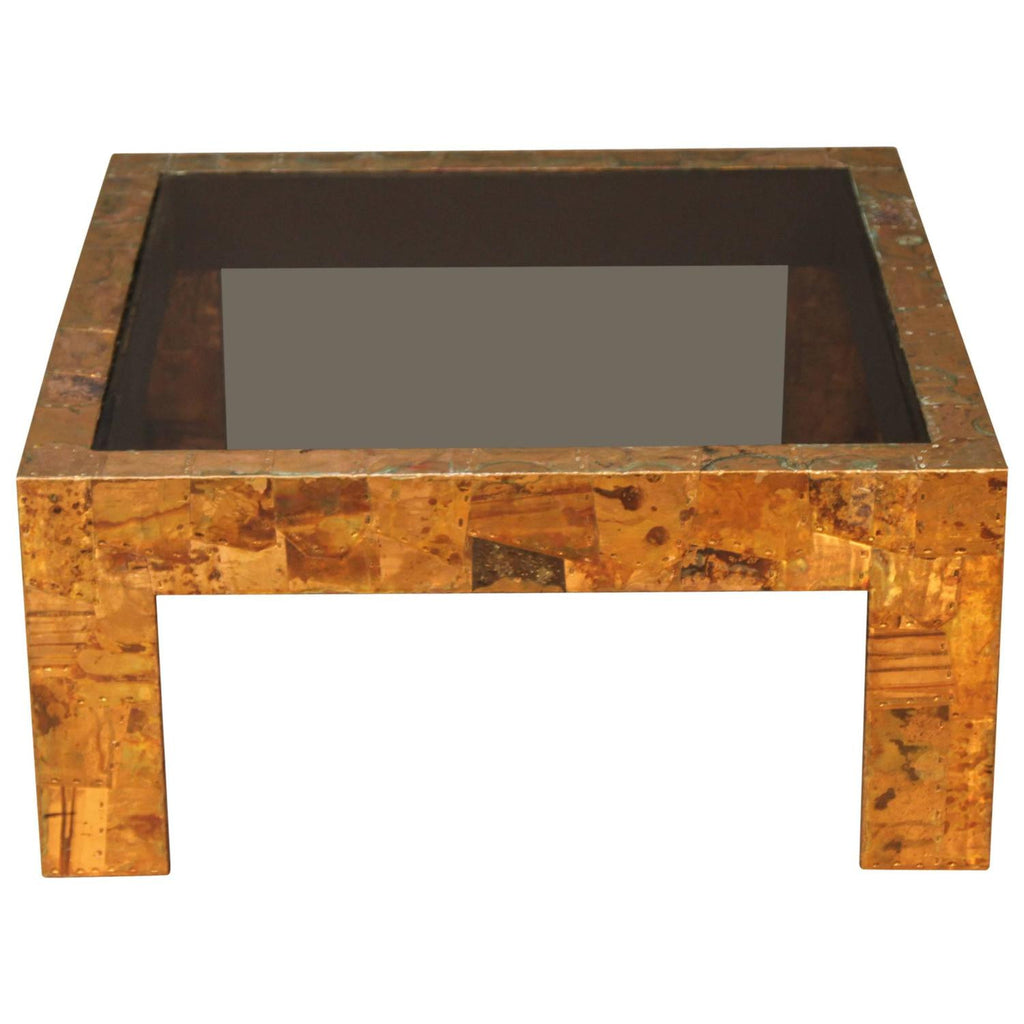 Iconic Modern Furniture Rare Paul Evans Coffee Table With Inlaid Copper Iconic Modern By