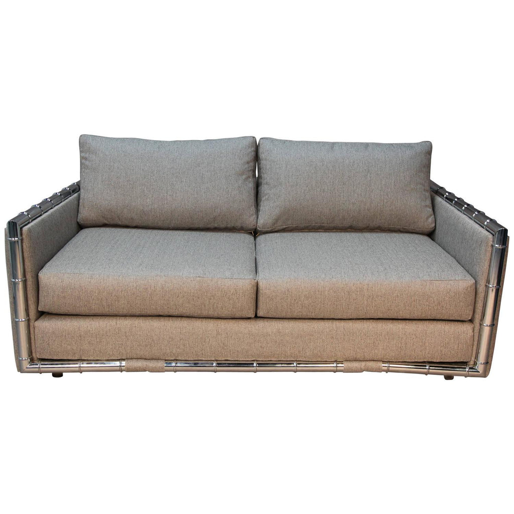 Adrian Pearsall Faux Bamboo Loveseat for Craft Associates