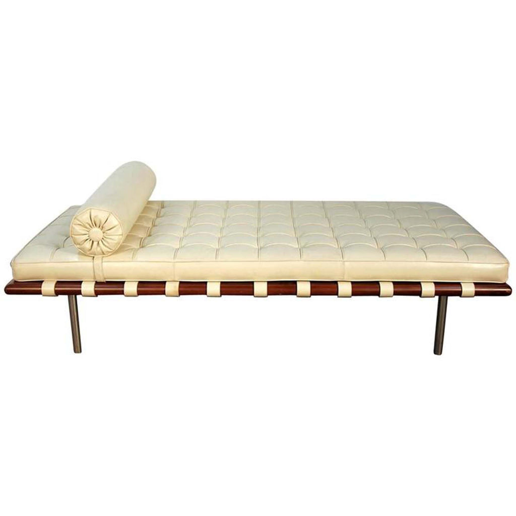 Mies Van Der Rohe for Knoll Barcelona Daybed in White Leather