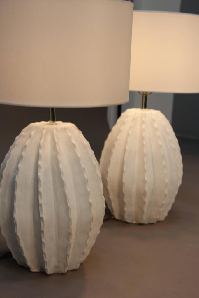 Pair of vintage cactus ceramic lamps iconic modern by geoffrey pair of vintage cactus ceramic lamps aloadofball Images