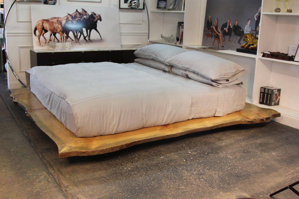 Live Edge Custom Platform King Bed
