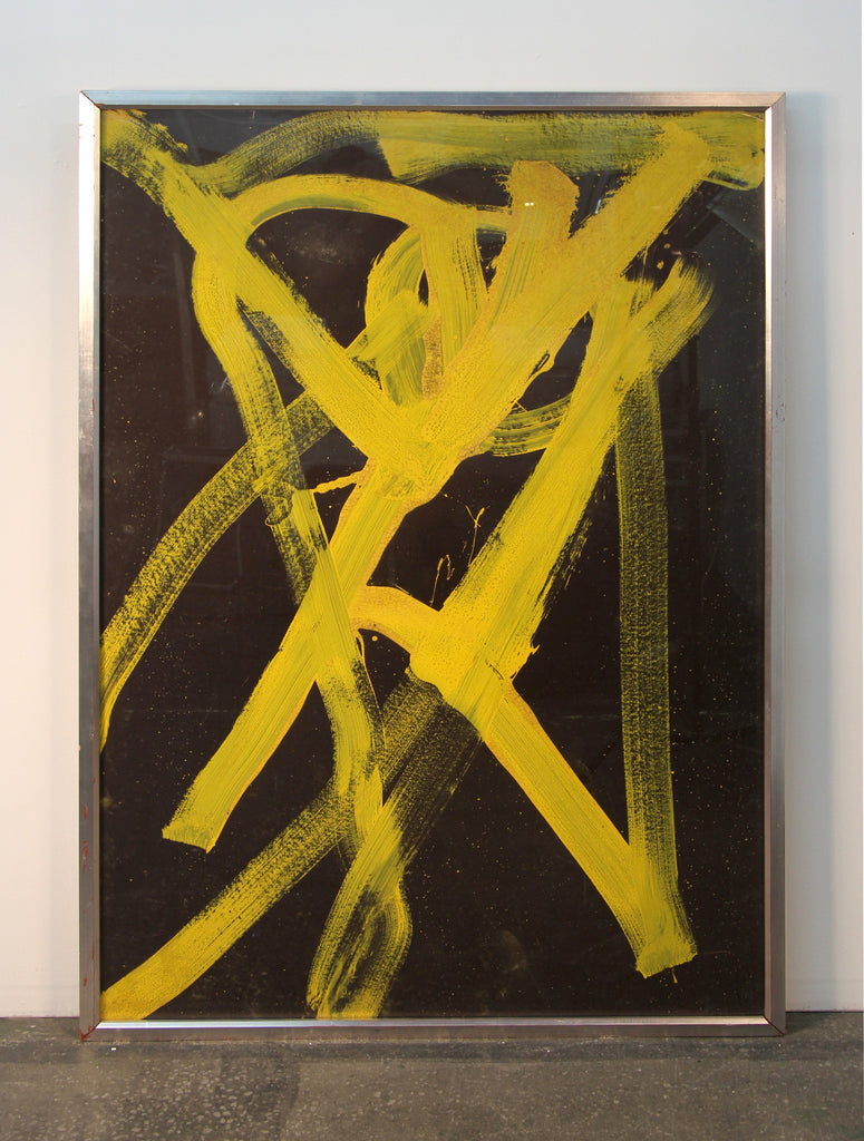 Alexander Rutsch Yellow on Black Series Triptych