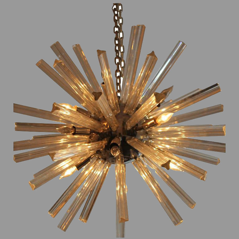 Chrome and Glass Sputnik Chandelier