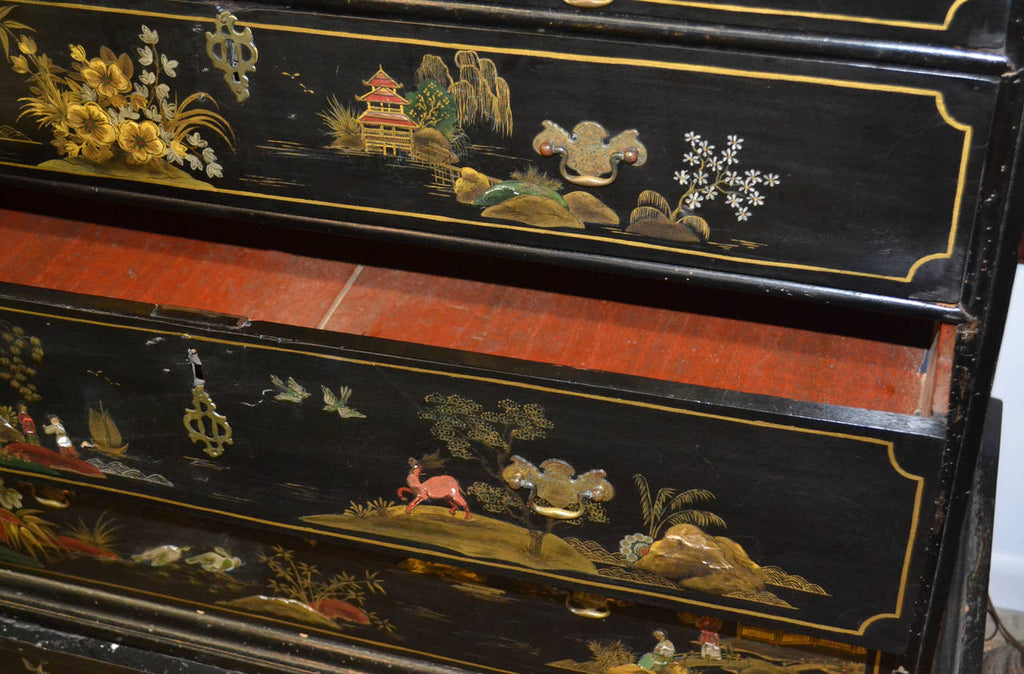 Chinoiserie Two over Three-Drawer Dresser