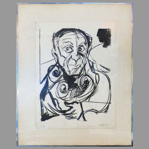 Alexander Rutsch Portrait of Picasso