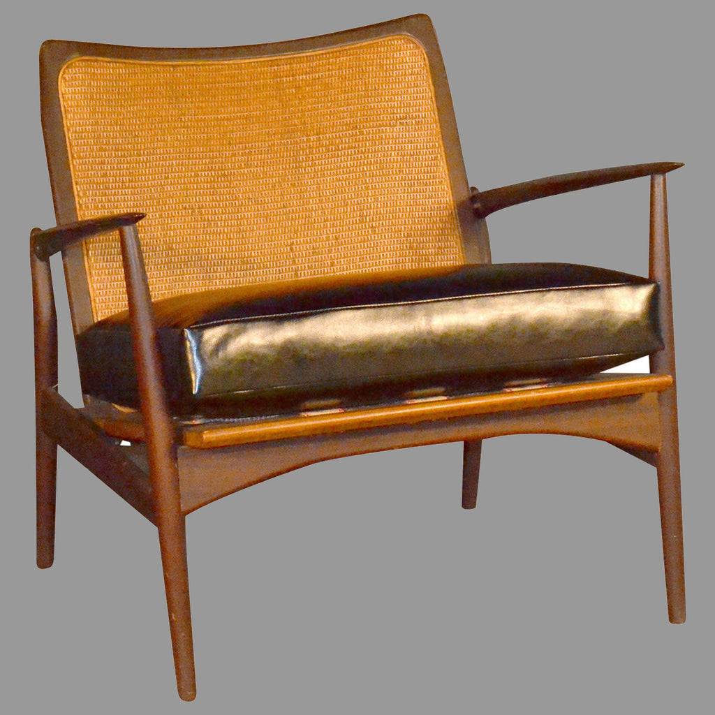 Arne Vodder Caned Back Lounge Chair