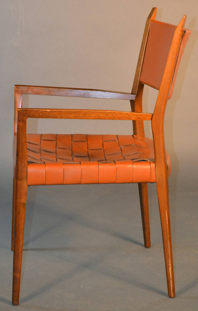 Paul McCobb Original Woven Leather Armchair