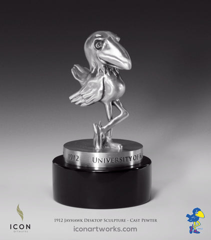 1912 Kansas Jayhawk Desktop Sculpture - Icon Artworks