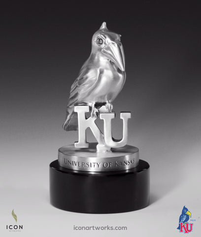 1920 Kansas Jayhawk Desktop Sculpture - Icon Artworks