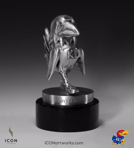 1929 Kansas Jayhawk Desktop Sculpture - Icon Artworks