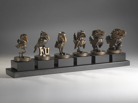 Evolution of the Jayhawk - Complete Set of Desktop Sculptures - Icon Artworks