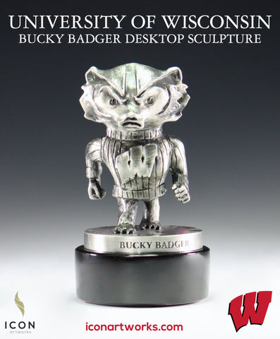 University of Wisconsin Bucky Badger Desktop Sculpture