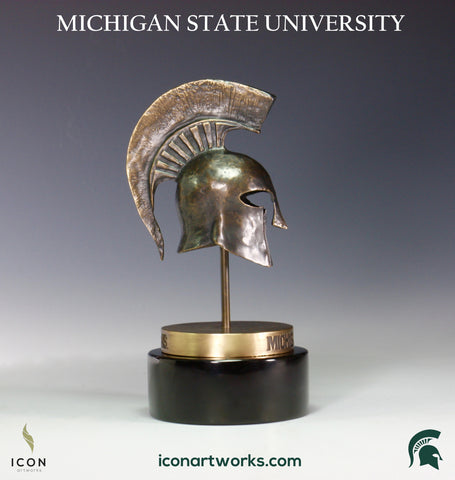 Spartans Helmet Desktop Sculpture