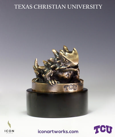 Horned Frogs Desktop Sculpture