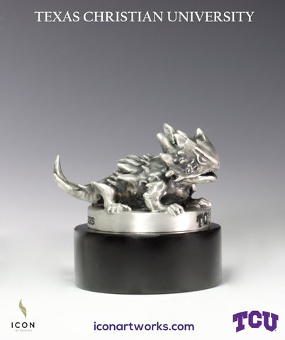 Horned Frogs Desktop Sculpture - Icon Artworks