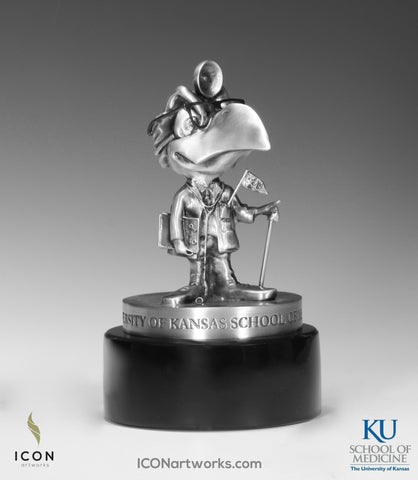 """Jay Doc 1954"" Kansas Jayhawk Desktop Sculpture - Icon Artworks"