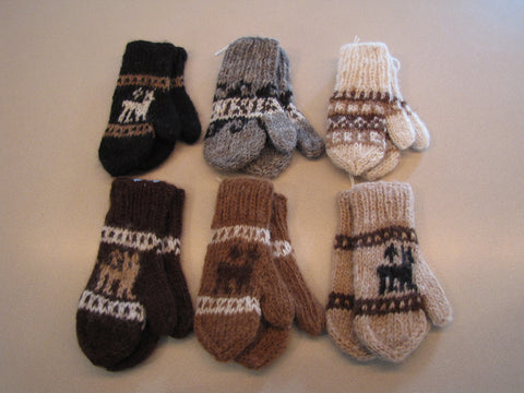 100% Alpaca Mittens for Children
