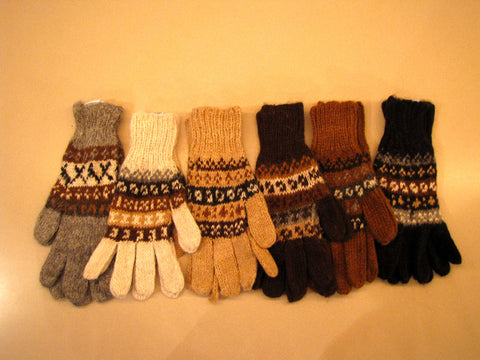 100% Alpaca Adult Gloves