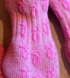 My Survivor Alpaca Slipper Socks (black or pink)