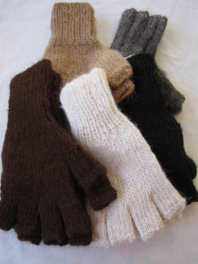 100% Alpaca-Fingerless Gloves
