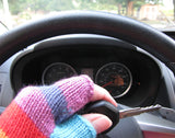 Full-Color Alpaca Blend Fingerless Gloves