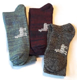 Light Weight Two-Color Alpaca Crew Socks