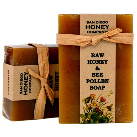Cinnamon Raw Honey & Bee Pollen Soap by San Diego Honey Company®