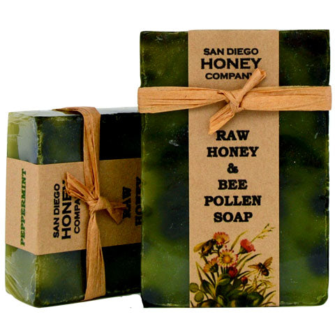 Buy Raw Honey & Bee Pollen Soap by San Diego Honey Company