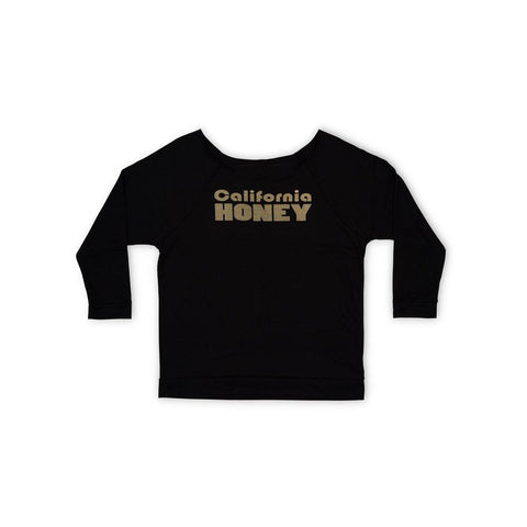 California Honey 3/4 Sleeve Raglan Shirt - Black