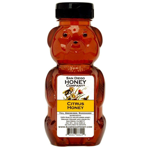Citrus Infused Raw San Diego Honey - San Diego Honey Company®