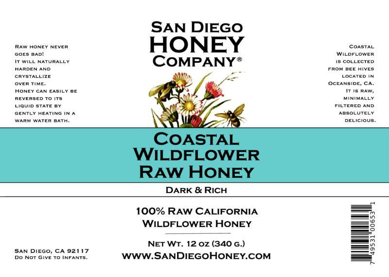 Raw San Diego Coastal Wildflower Honey - San Diego Honey Company®